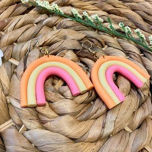 Pastel rainbow clay earrings